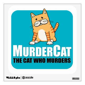 Murder Cat wall decal