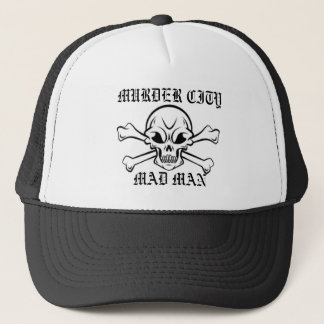 Murder City Mad Man Hat - W/Skull