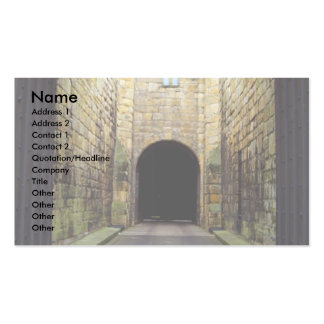 Murder Corridor, Barbican, Alnwick Castle, Northum Double-Sided Standard Business Cards (Pack Of 100)