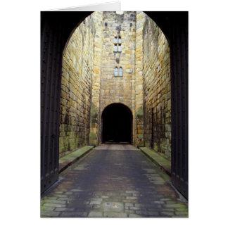 Murder Corridor, Barbican, Alnwick Castle, Northum Greeting Card