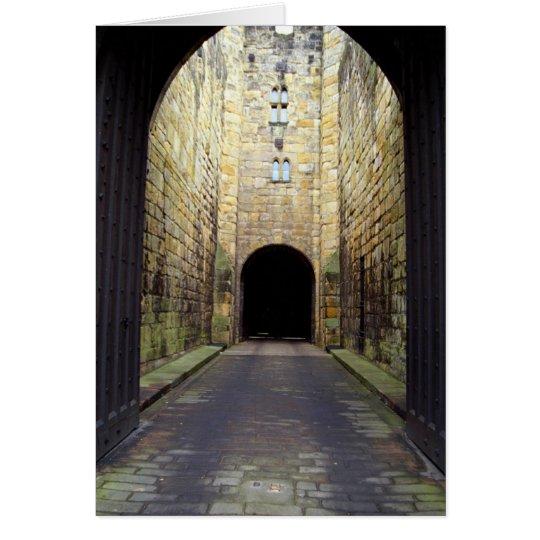 Murder Corridor, Barbican, Alnwick Castle, Northum Card