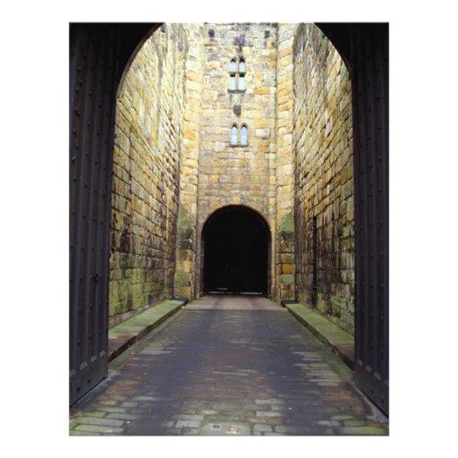 Murder Corridor, Barbican, Alnwick Castle, Northum Custom Flyer