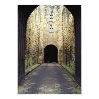 Murder Corridor, Barbican, Alnwick Castle, Northum Personalized Invitation