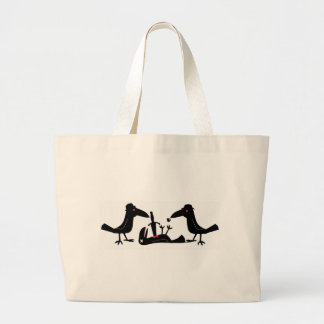 murder crows canvas bag