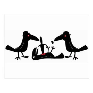 murder crows postcard