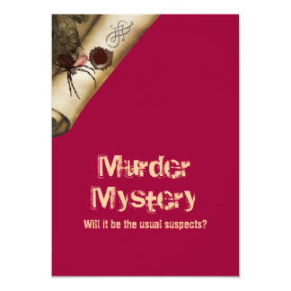 Murder investigation who dun it 5x7 paper invitation card