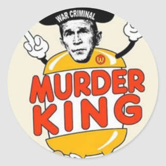"Murder King 3"" Round STICKER"