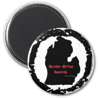 murder mitten 2 inch round magnet