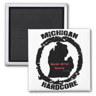 murder mitten 2 inch square magnet
