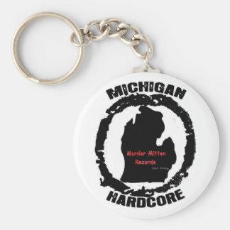 murder mitten basic round button keychain