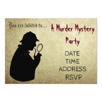 Murder Mystery detective theme party Invitation