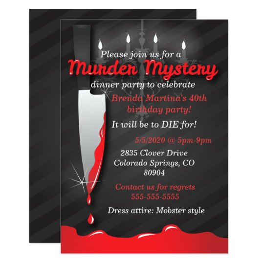 Murder Mystery Dinner Sheet Free: Murder Mystery Dinner Invitation