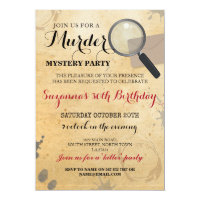 Murder Mystery Dinner Party Clues Invite