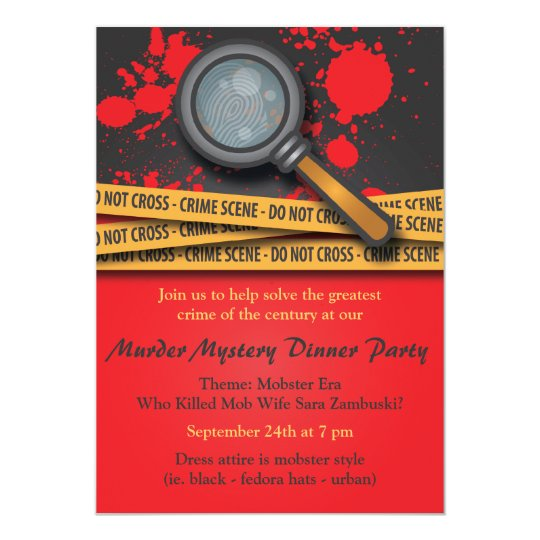 Murder Mystery Dinner Party Invitation Zazzle Com