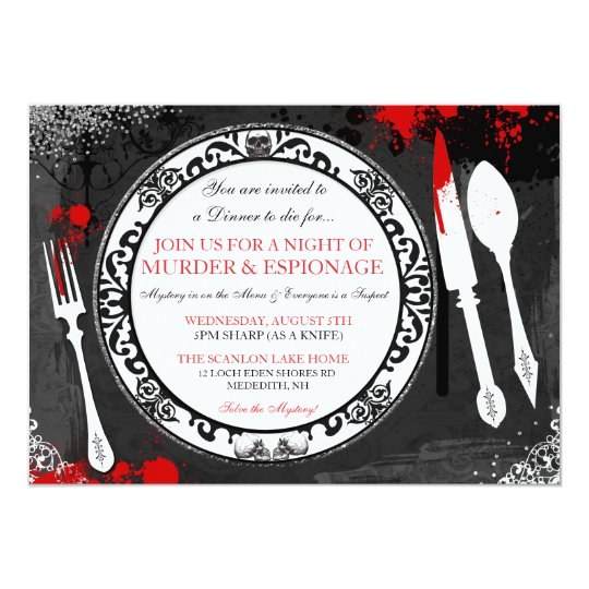 Murder Mystery Dinner Sheet Free: Murder Mystery Dinner Party Invite