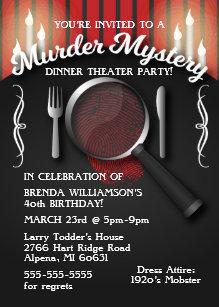 Murder Mystery Invitations