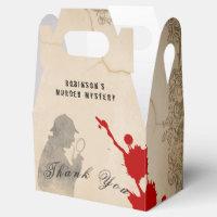 Murder Mystery Gable Box Parchment Paper Theme