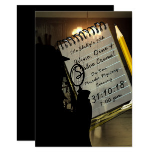 Murder Mystery Invitations Zazzle