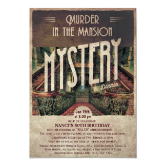 Murder Mystery Mansion Invitation