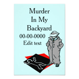 Murder Mystery PArty Card