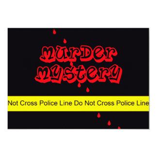Murder Mystery Party Invitation Serving Murder