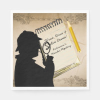 Murder Mystery Party Napkins Personalized 2