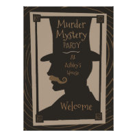 Murder Mystery Party - Welcome Poster