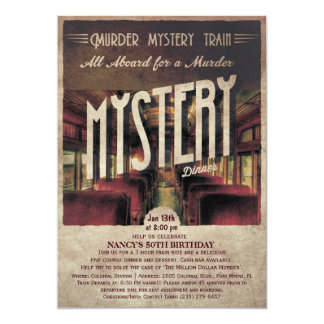 Murder Mystery Train Invitation