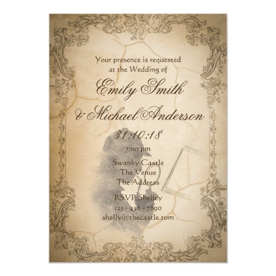 Murder Mystery Wedding Invites Vintage Parchment
