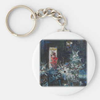 Murder Of Andreas Baader-Decomp by David Barlow Keychain