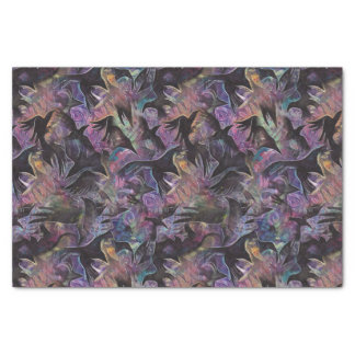"""Murder of Crows - by Gillian Ivy 10"""" X 15"""" Tissue Paper"""