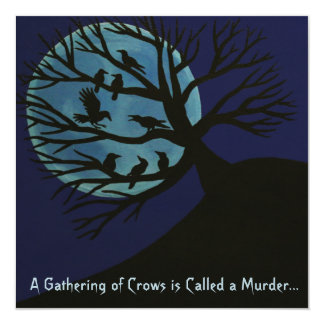 Murder Of Crows Halloween Invitation