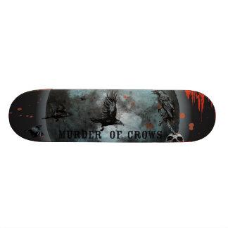 murder-of-crows skateboard deck