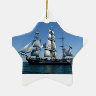 Murder On The Bounty Ship Double-Sided Star Ceramic Christmas Ornament