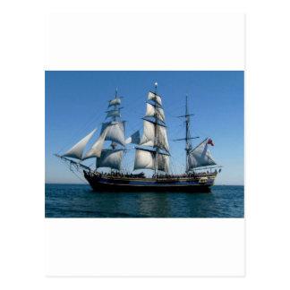 Murder On The Bounty Ship Postcard