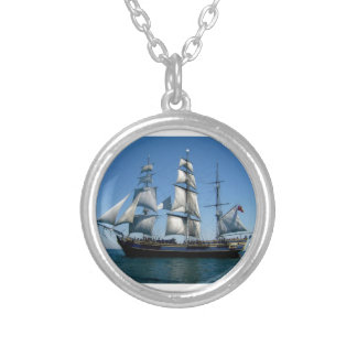 Murder On The Bounty Ship Silver Plated Necklace