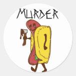 Murder Round Sticker
