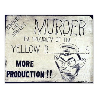 Murder The Specialty Of The Yellow B..S 4.25x5.5 Paper Invitation Card
