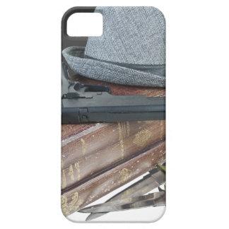 MurderMysteryBooksGunKnivesFedora042113.png iPhone SE/5/5s Case