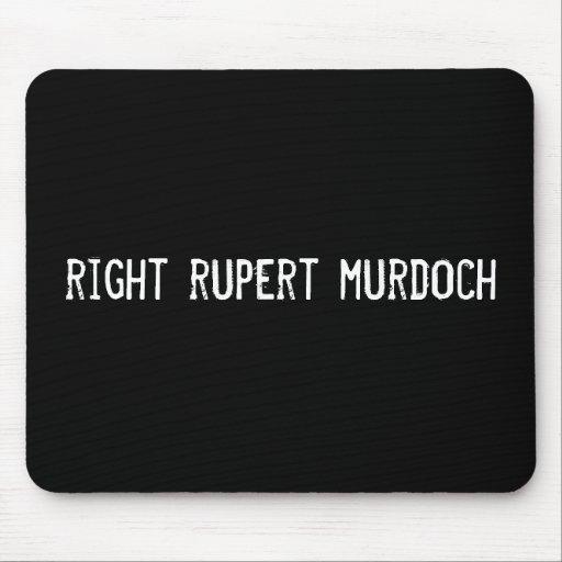 murdoch correcto de Rupert Alfombrillas De Ratones