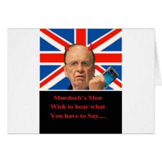 Murdoch's Men Card