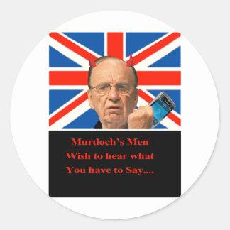 Murdoch's Men Classic Round Sticker