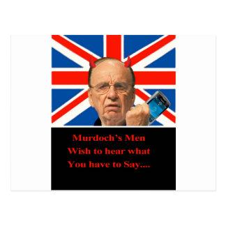 Murdoch's Men Postcard