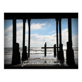 Murdoch's Pier Galveston Island Postcard