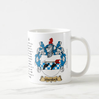 Murdock Family Coat of Arms (Crest) including the Coffee Mug