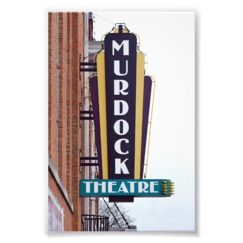 Murdock Theatre Sign, Wichita, Kansas Photo Print