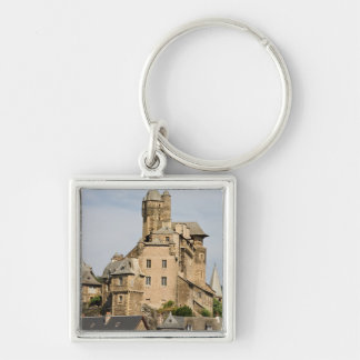Muret le Chateau Silver-Colored Square Keychain