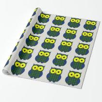 Muri Tartan Plaid Owl Wrapping Paper
