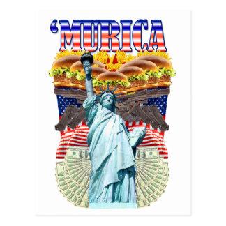 'MURICA! American pride, liberty lovin' folks wear Postcard