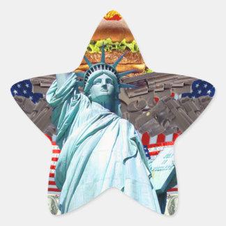 'MURICA! American pride, liberty lovin' folks wear Star Stickers